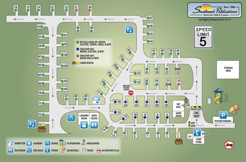 Hemlock Grove Campground Map